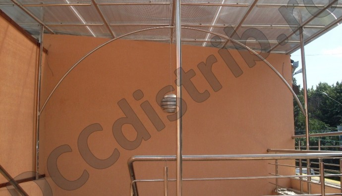 Copertină inox cu policarbonat