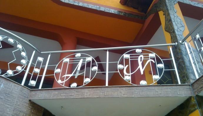 Balustradă inox cu model