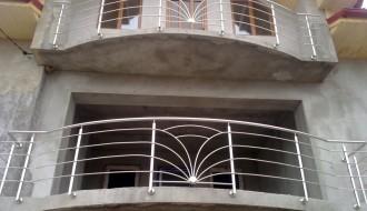 Balustradă inox cu patru traverse